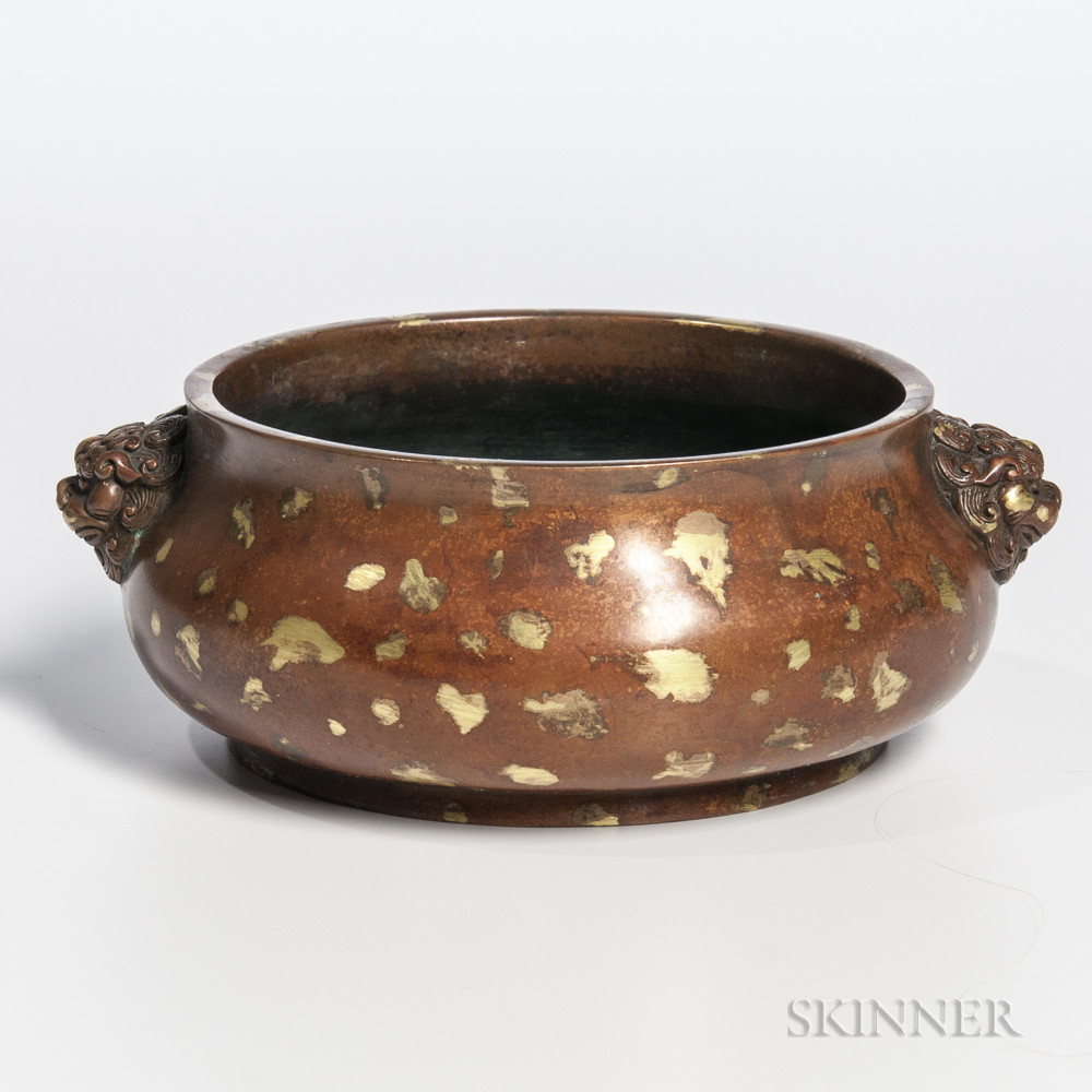 Gold-splash Bronze Censer