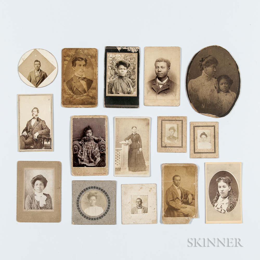 Thirteen Cabinet Cards and Two Small Photos Depicting ...