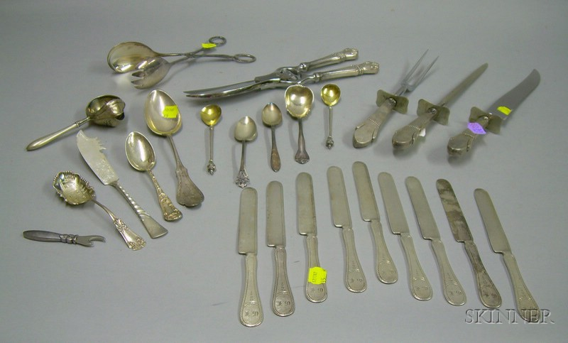 Group of Assorted Sterling and Silver Plated Flatware