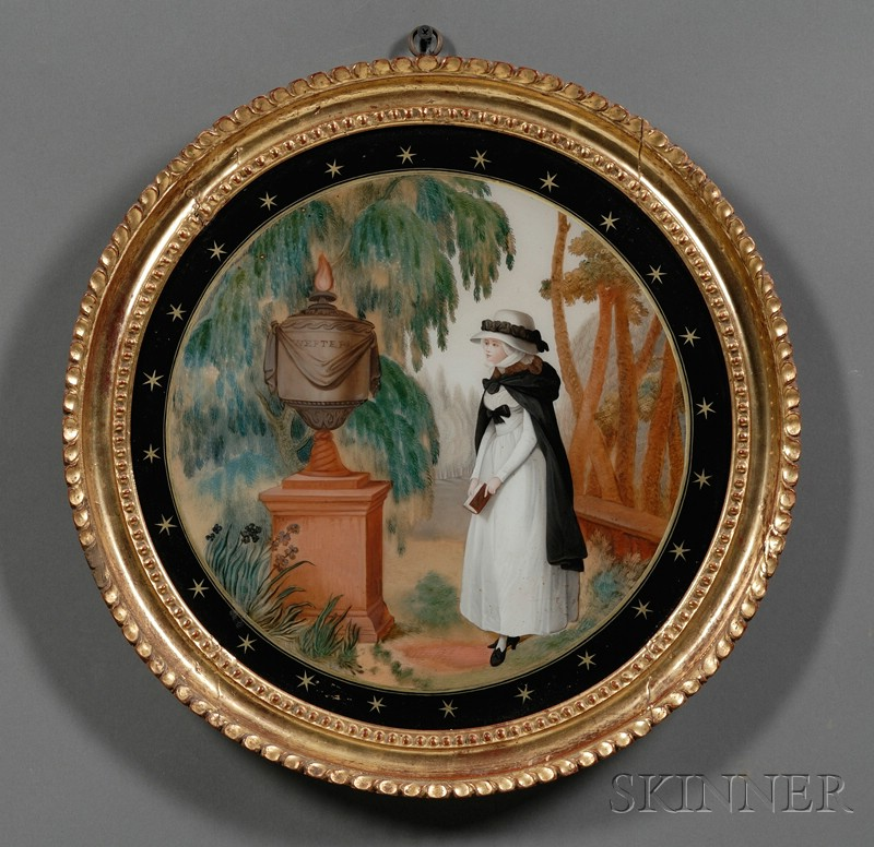 Chinese Export, 19th Century      Two Reverse Paintings on Glass