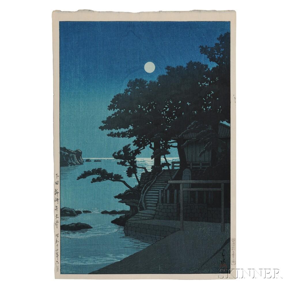 Kawase Hasui (1883-1957), Bentendo Shrine at Kakizaki, Shimoda