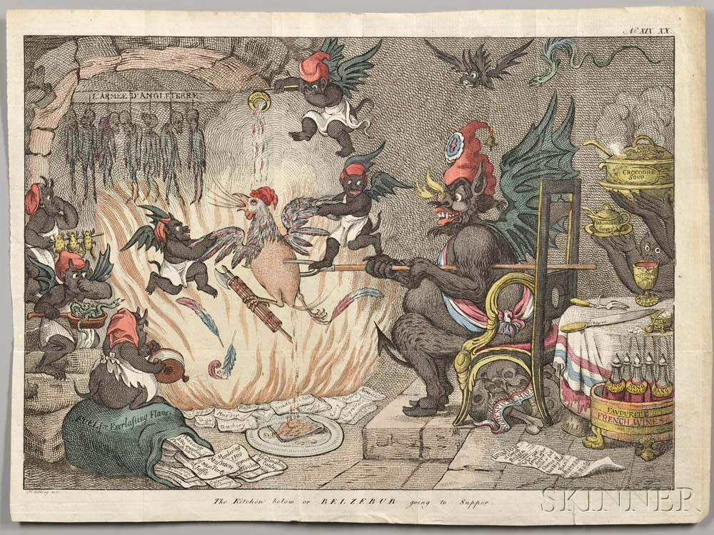 Gillray, James (1756-1815) The Kitchen Below, or Belzebub Going to Supper.