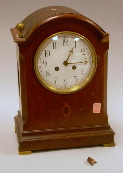 French Mahogany Mantel Clock
