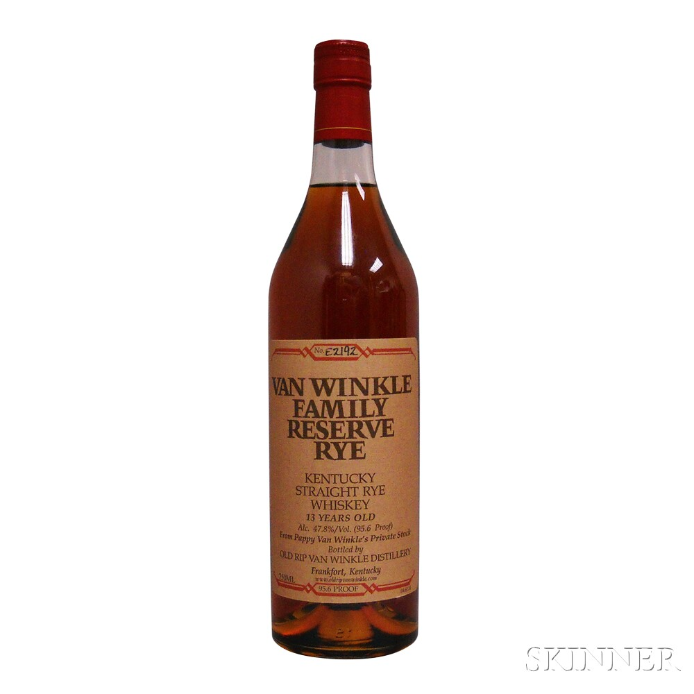 Van Winkle Family Reserve Rye 13 Years Old 2013, 1 750ml bottle
