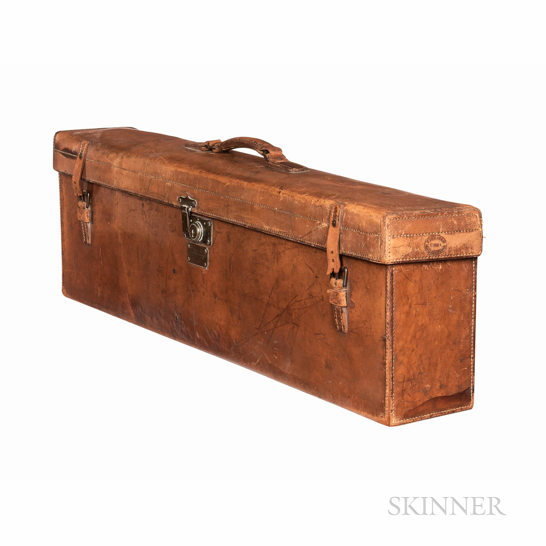 English Leather Violin Case, Finnigan, c. 1900