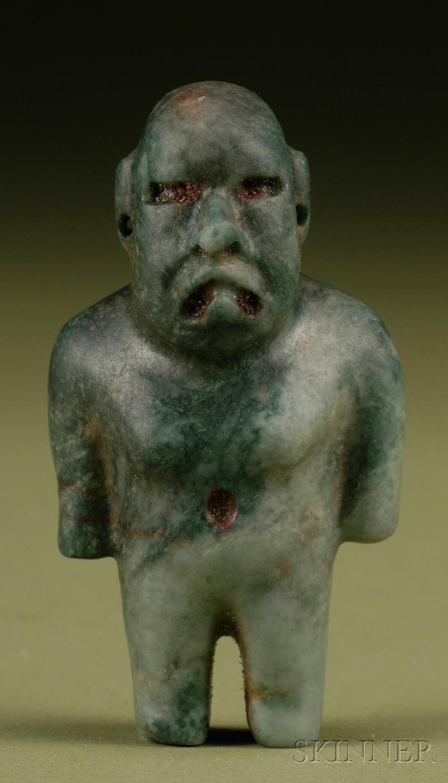 Pre-Columbian Carved Jade Figure