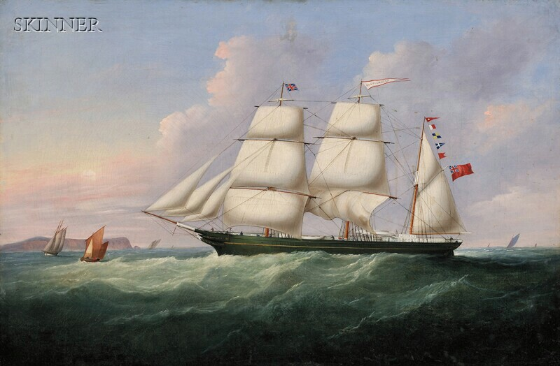 Francis Hustwick (British, 1797-1865) The Bark Respigadera of Liverpool, Calling for a Pilot off the South Stack, Holyhead, North Wa...