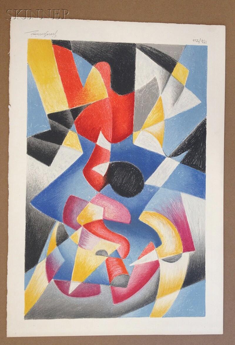Gino Severini (Italian, 1883-1966)      Composition