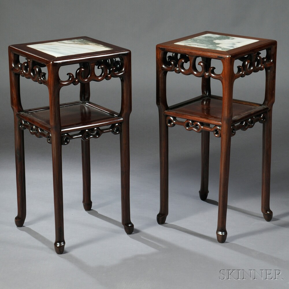 Pair of Marble-top Stands