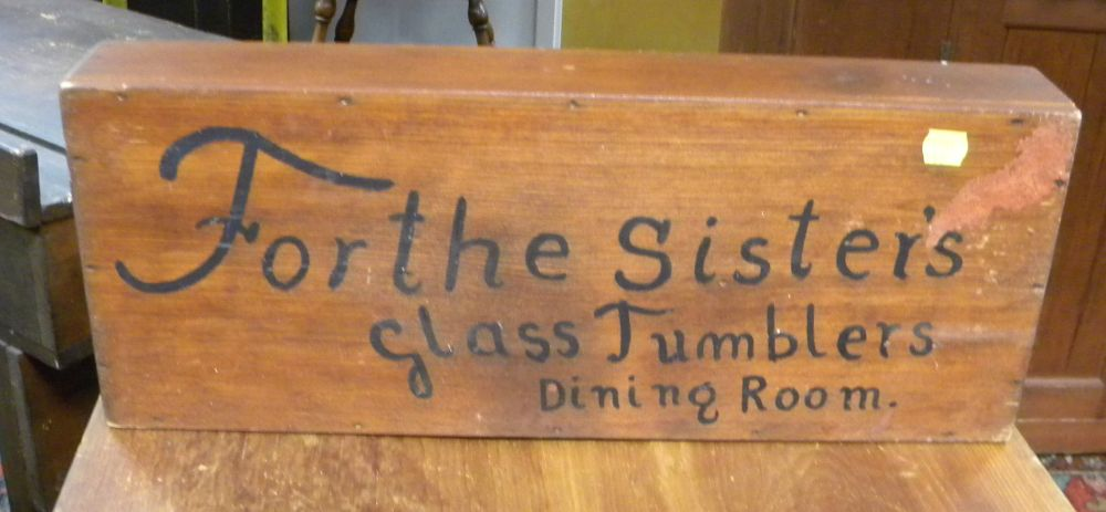 Reproduction Shaker Sisters Wooden Tumbler Carrier
