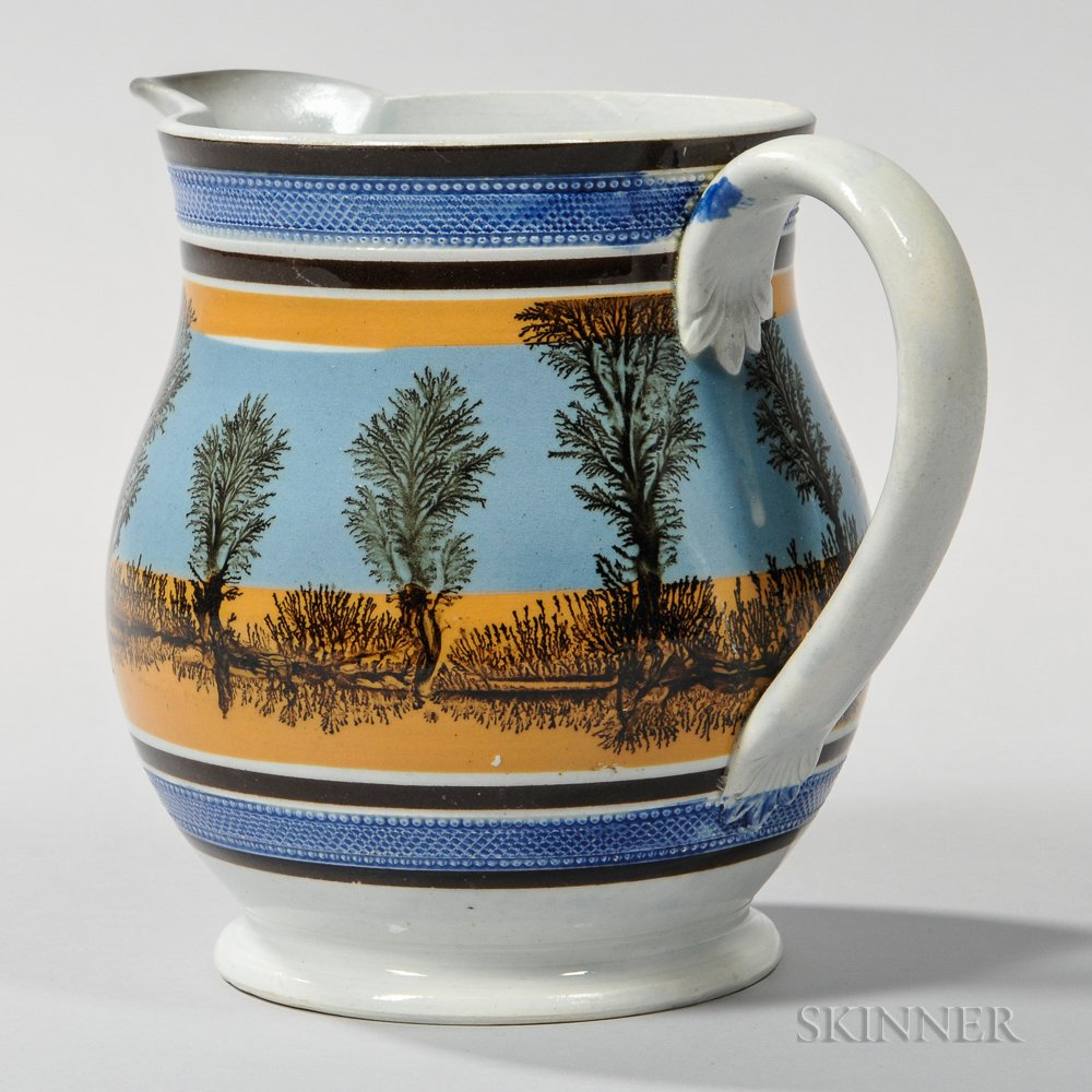 Mocha-decorated Pearlware Jug