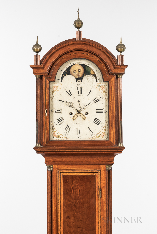 Simon Willard Inlaid Mahogany Tall Clock