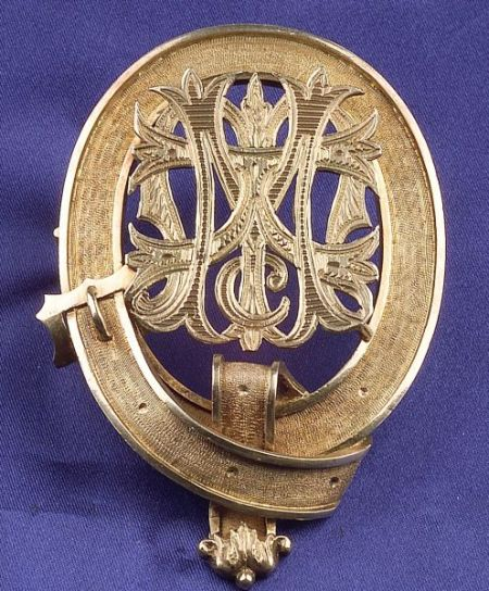 Antique Scottish Silver Gilt Brooch