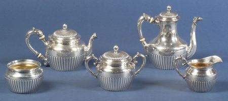 Five Piece Gorham Sterling Tea and Coffee Set