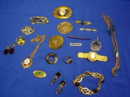 Twenty Pieces of Late Victorian and Other Costume Jewelry