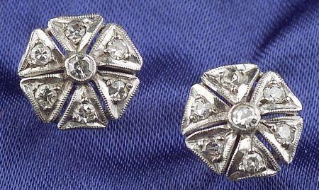 Platinum and Diamond Earstuds