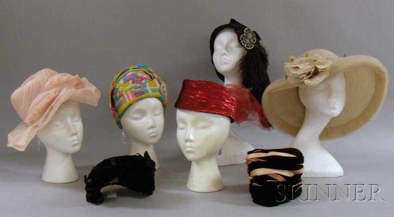 Approximately Fifteen Assorted Vintage 1940s-60s Hats