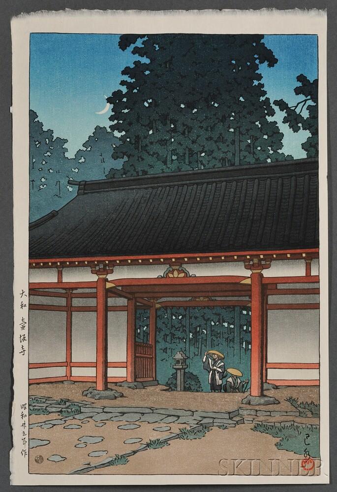 Kawase Hasui (1883-1957), Four Color Woodblocks