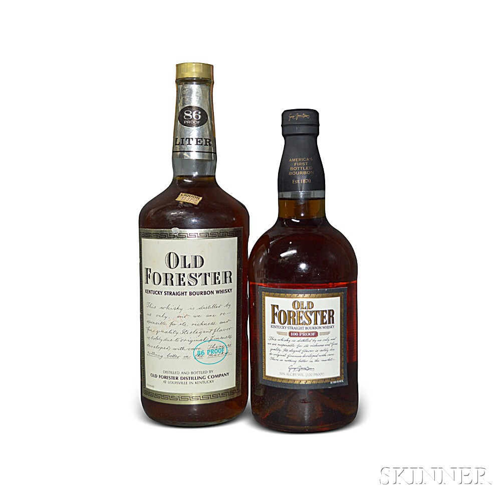Mixed Old Forester, 1 750ml bottle1 liter bottle