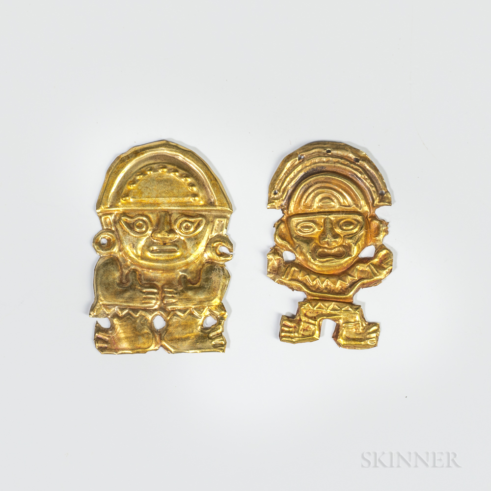 Two Pre-Columbian Gold Ornaments