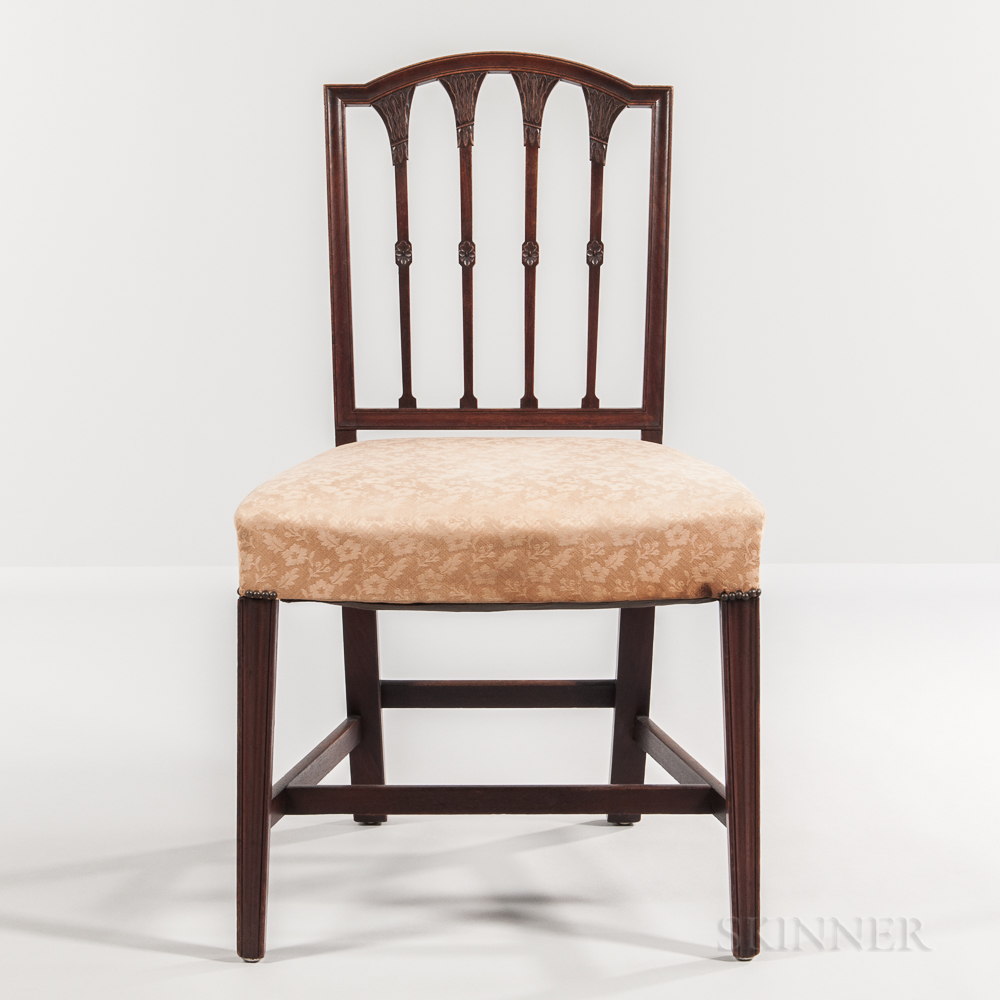 Mahogany Square-back Side Chair