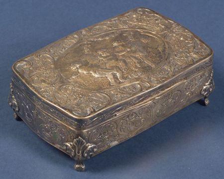 Continental Classical Revival Silver Dresser Box