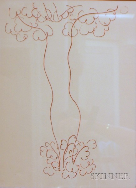 Framed Lithograph Entitled L'ARBRE   by Henri Matisse (French, 1869-1954)