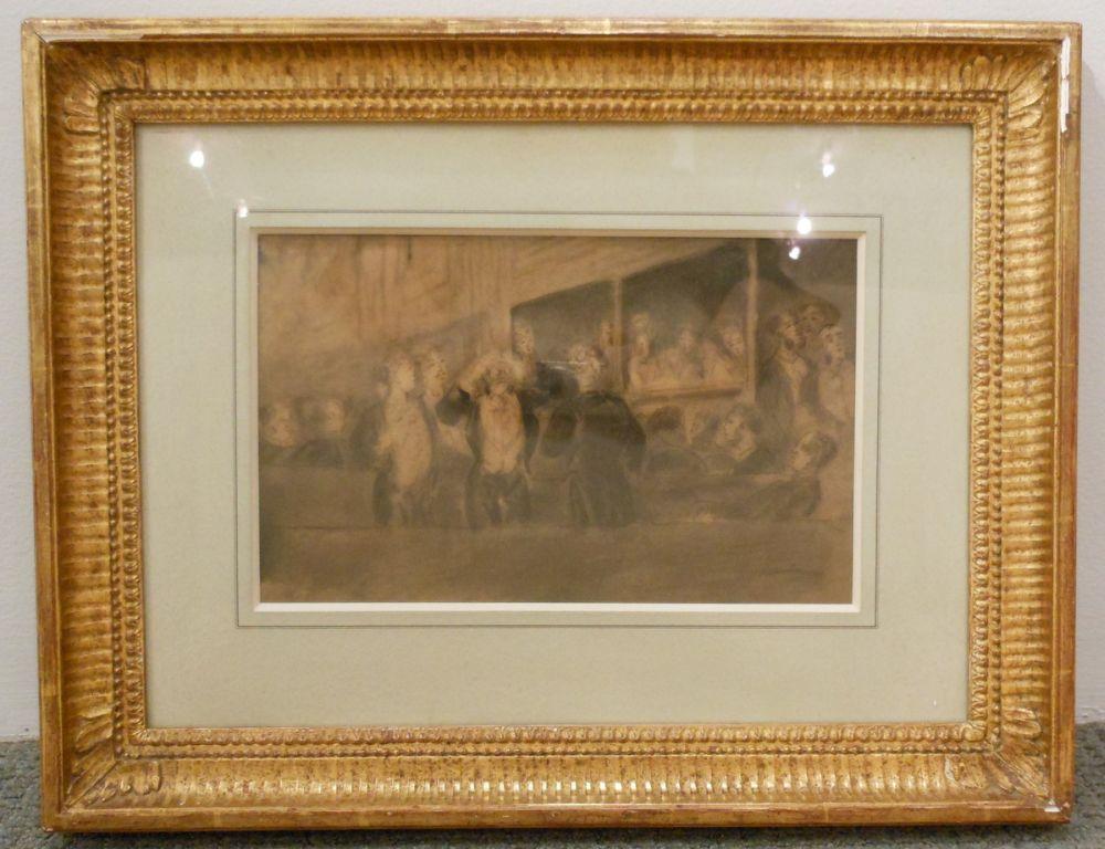 Constantin Guys (French, 1802-1892)      Loges et Spectateurs au Théâtre