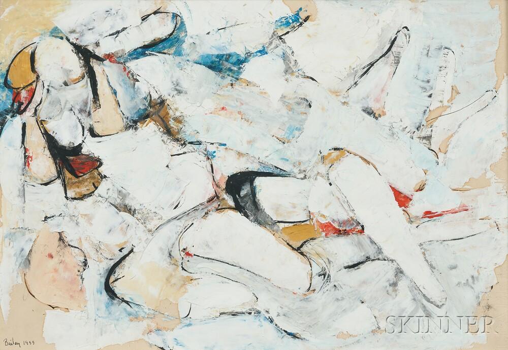 William Bailey (American, b. 1930)      Reclining Nude