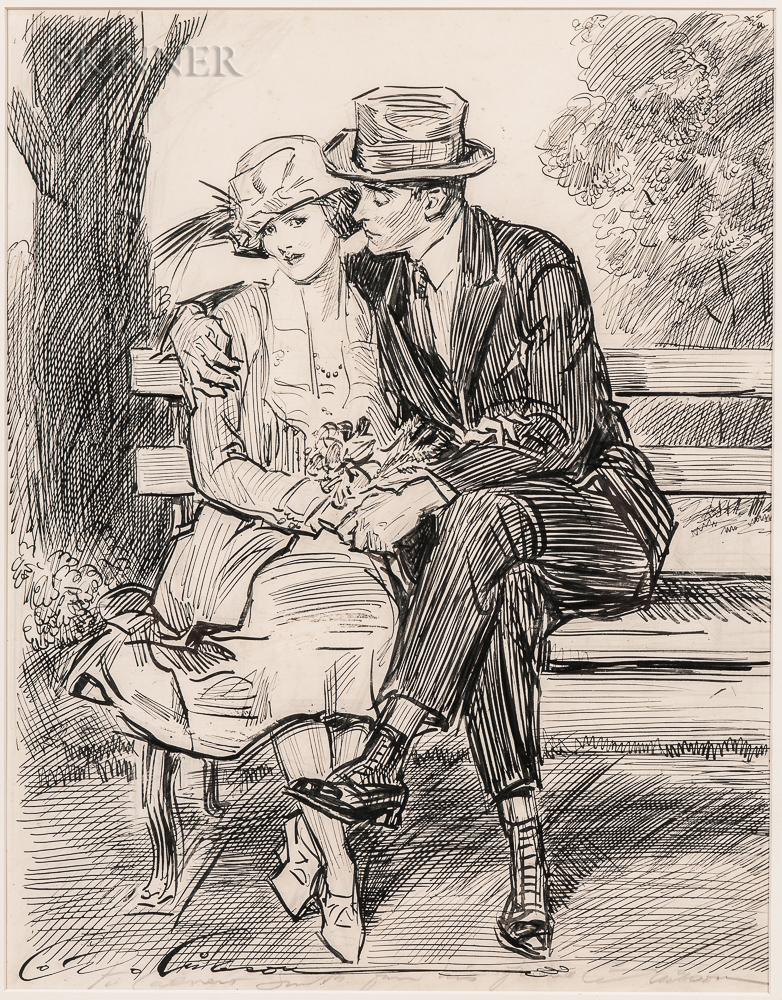 Charles Dana Gibson (American, 1867-1944)      The Questionnaire