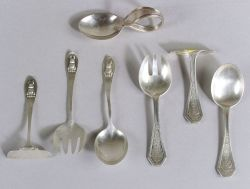 Two Sterling Baby Flatware Sets