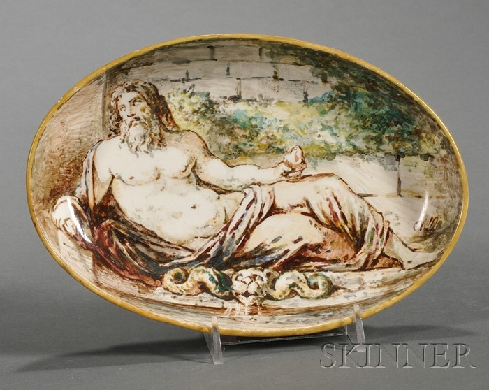 Wedgwood Hand-painted Queen's Ware Dish