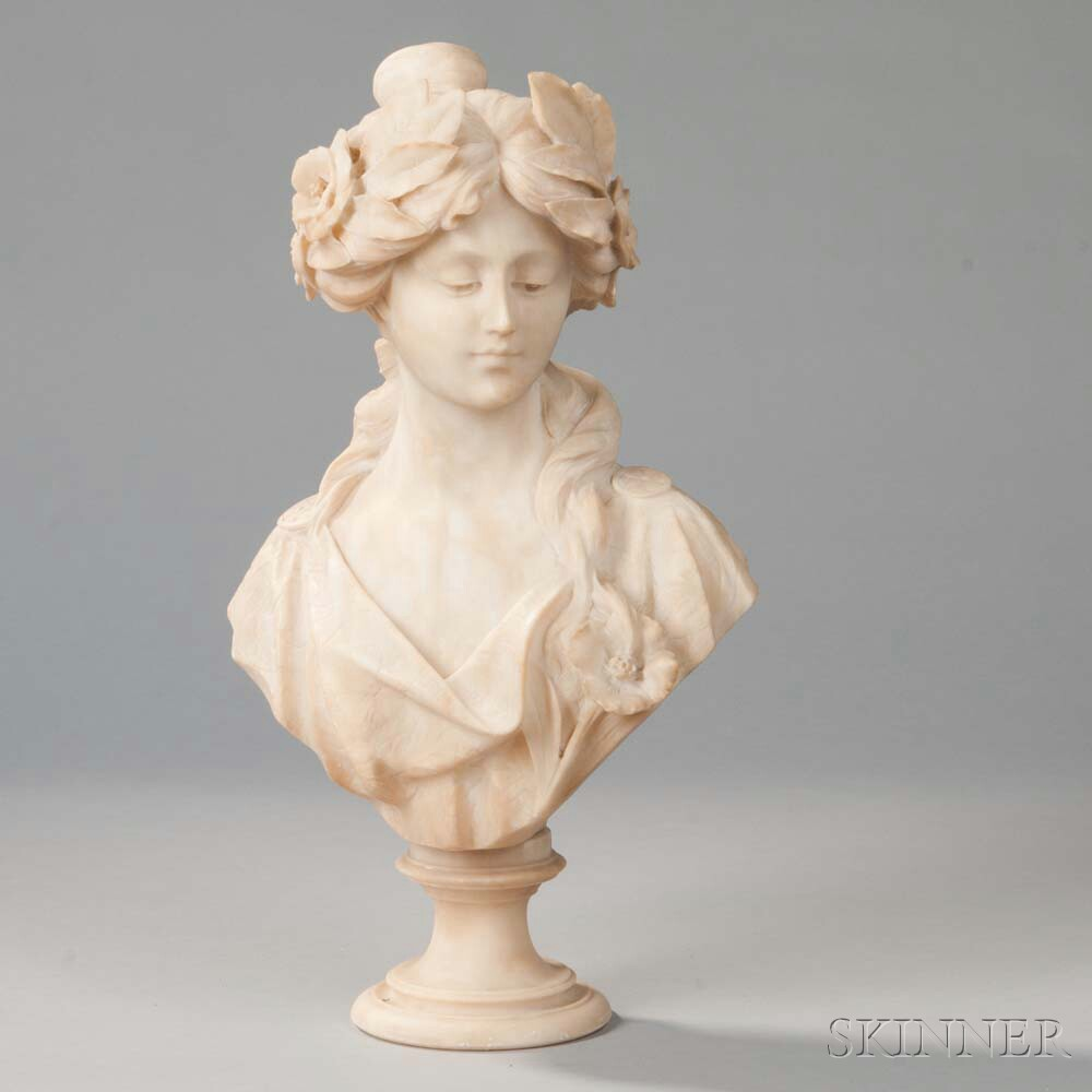 Alabaster Bust of a Maiden
