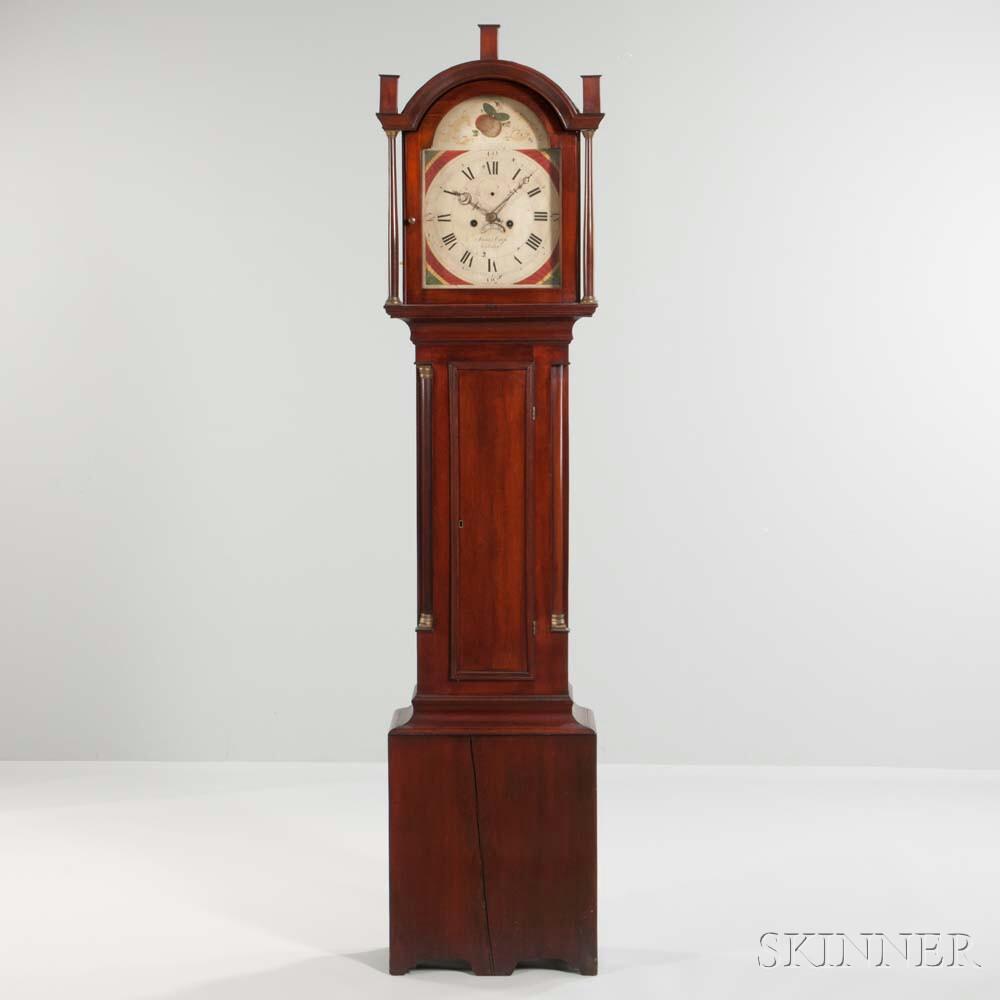James Cross Mahogany Stained Tall Clock