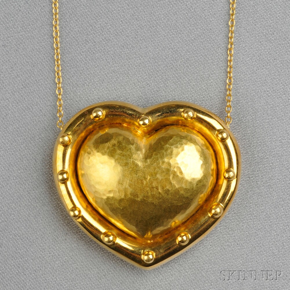 18kt Gold Heart Pendant, Paloma Picasso, Tiffany & Co.