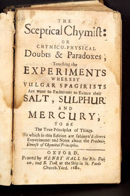 (Chemistry, Early), Boyle, Robert (1627-1691)