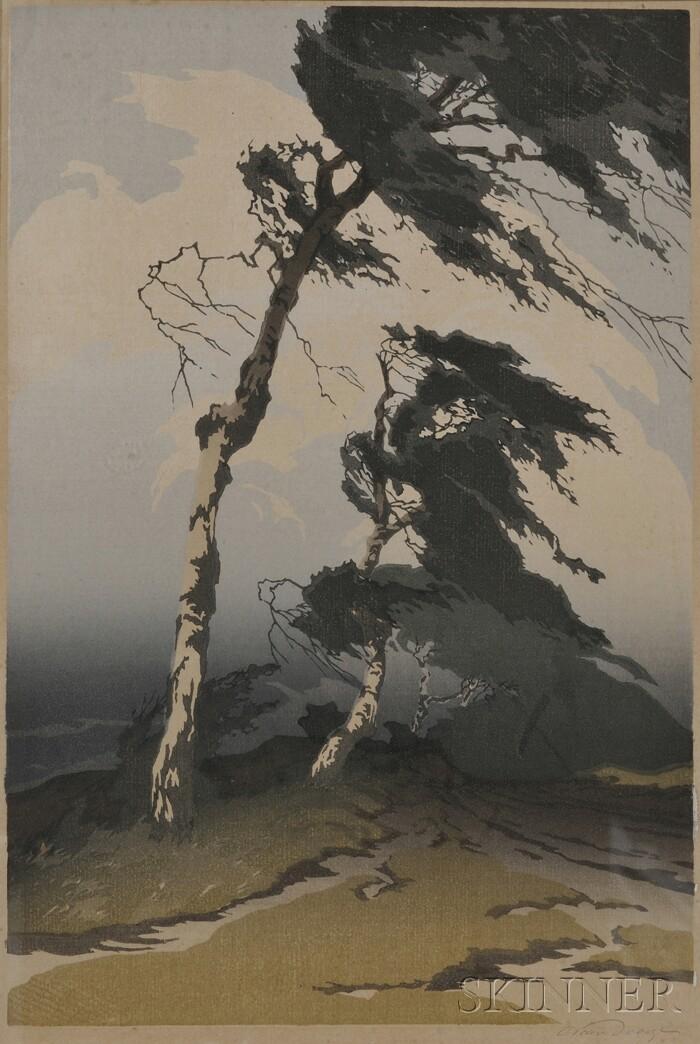 Oscar Droege (German, 1898-1982)      Windswept Pine