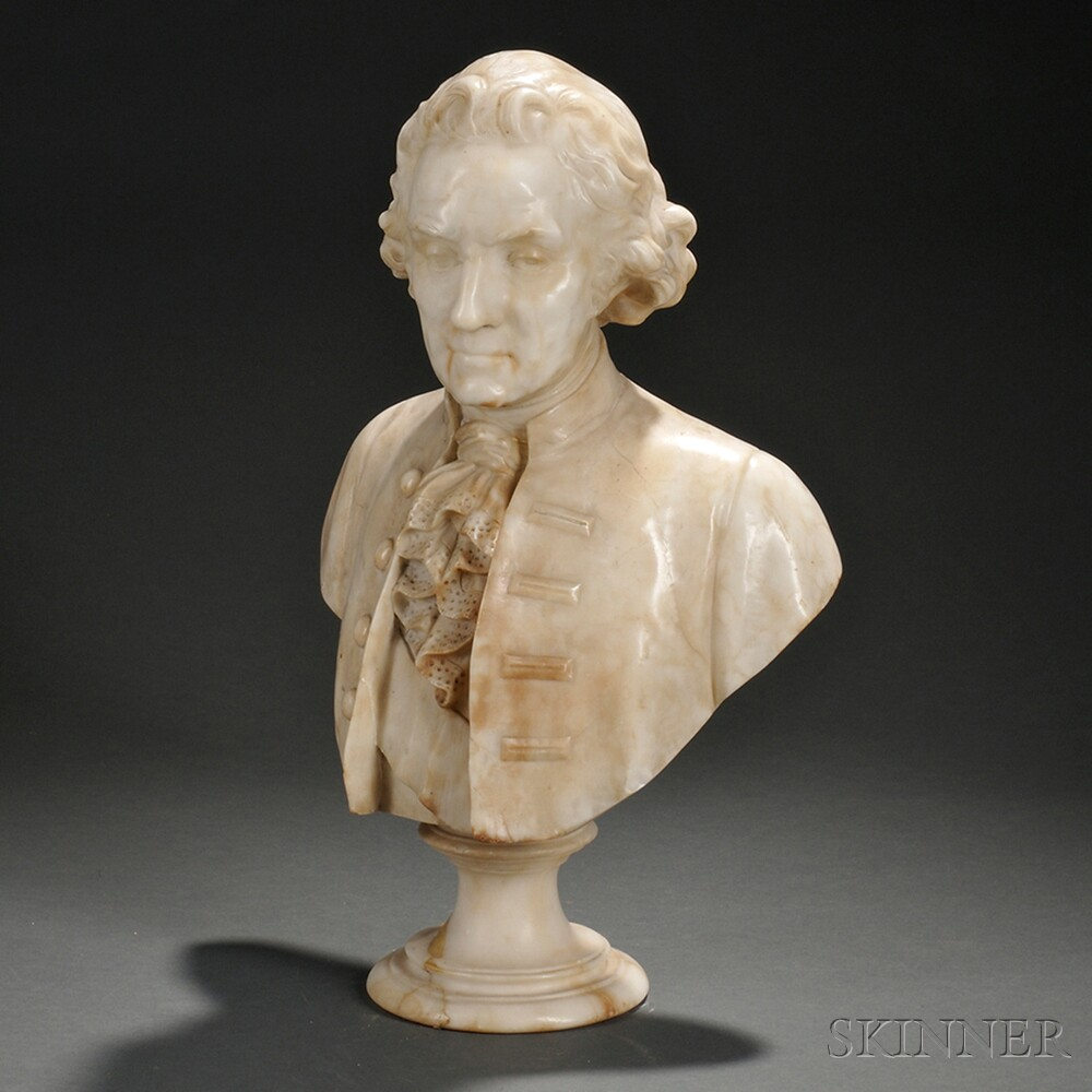 Carved Marble Bust of a Gentleman