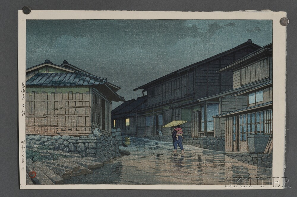 Kawase Hasui (1883-1957), Four Color Woodblocks