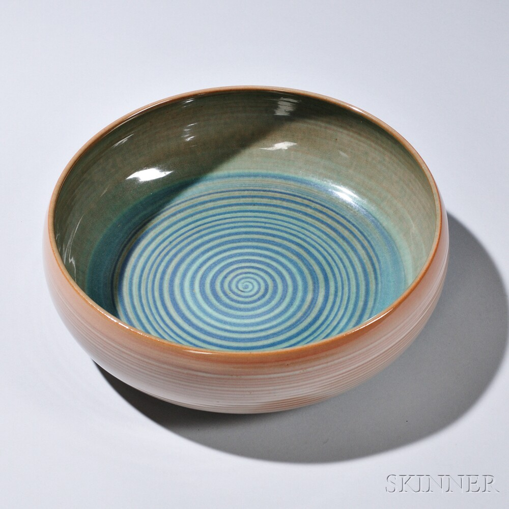 Mary (1909-2007) and Edwin (1910-2008) Scheier Serving Bowl