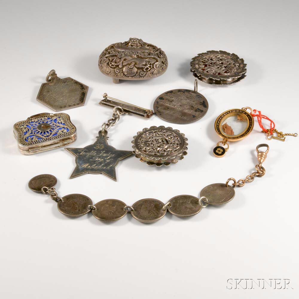 Nine Assorted Accessories