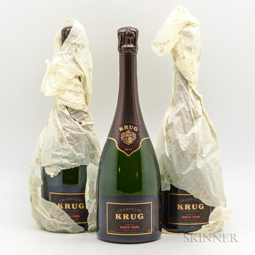 Krug Vintage Brut 1996, 3 bottles