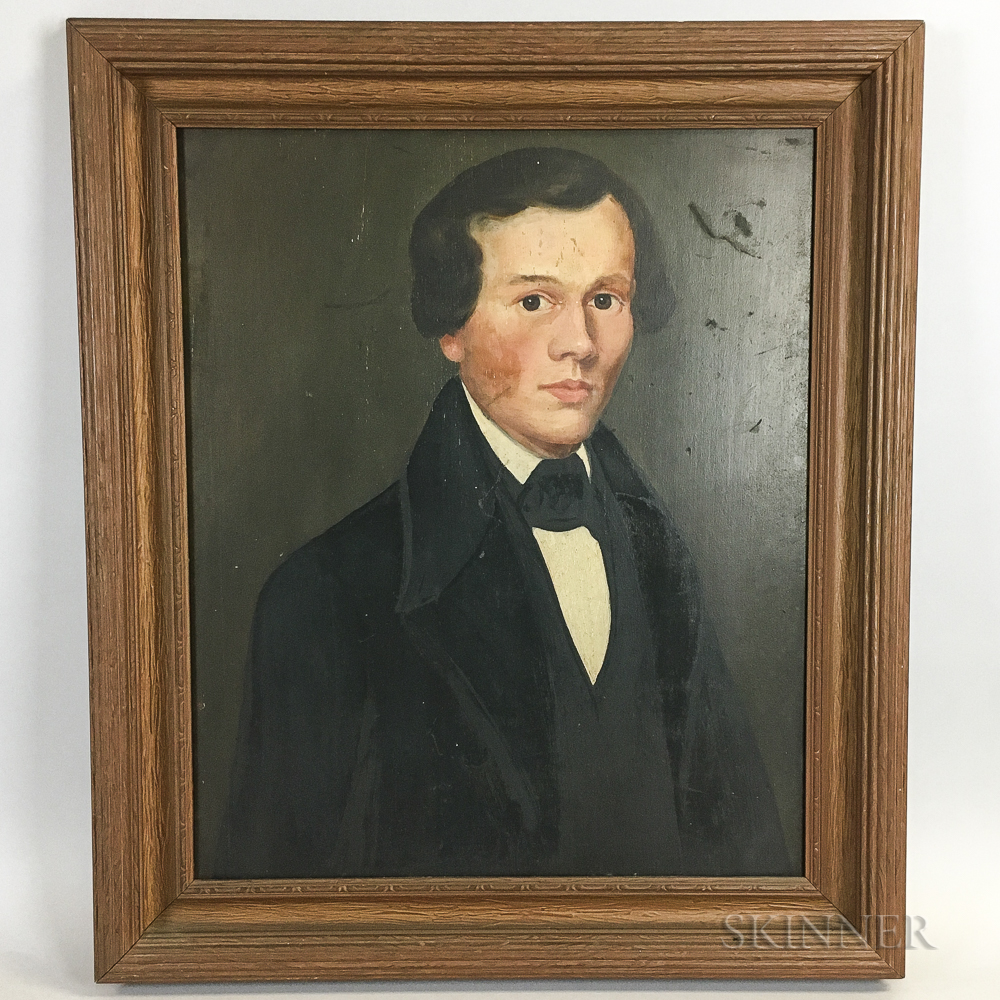 American School, 19th Century       Portrait of a Man