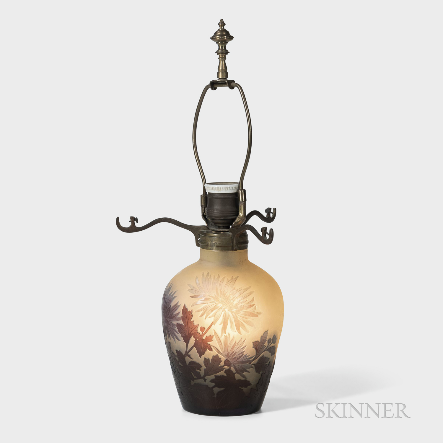 Galle Cameo Glass Lamp Base