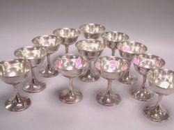 Set of Twelve Gorham Sterling Silver Sherbets.