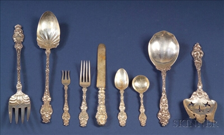 Assembled Group of Lily Pattern Flatware