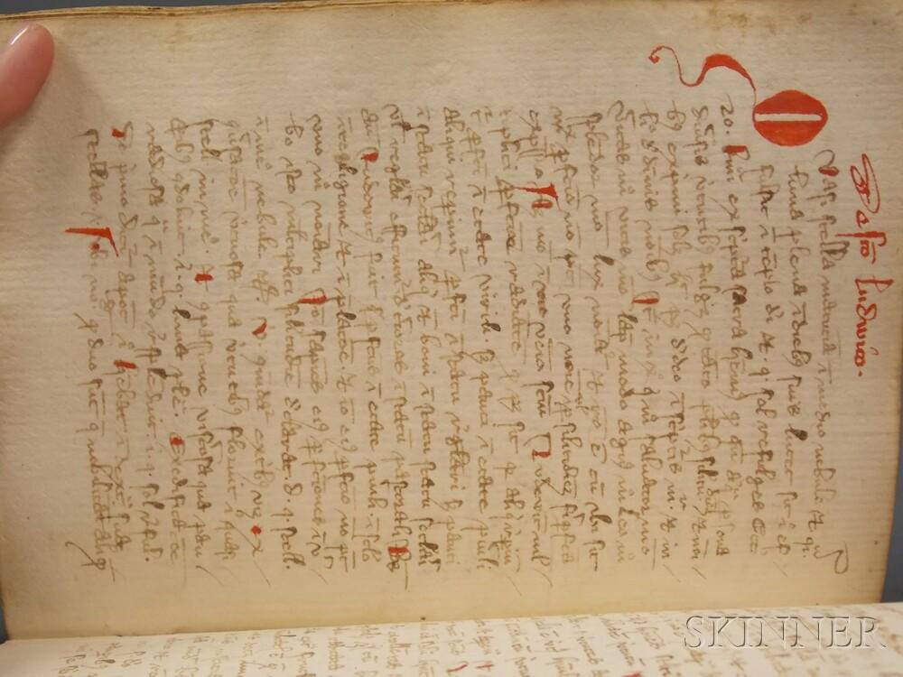 Medieval Latin Text Manuscript, Peregrinus de Opole (1260-after 1333) Sermones Peregrinus de Sanctis
