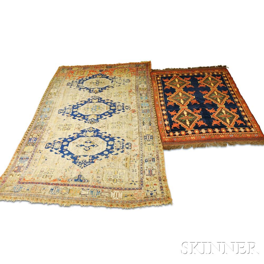 Antique Afghan Rugs: Antique Soumak And An Afghan Rug