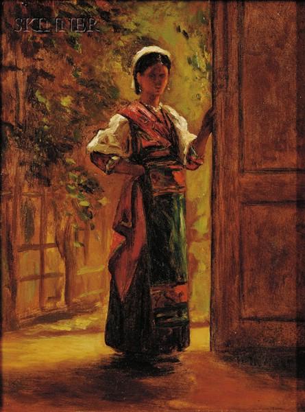 William Morris Hunt (American, 1824-1879)      Italian Girl
