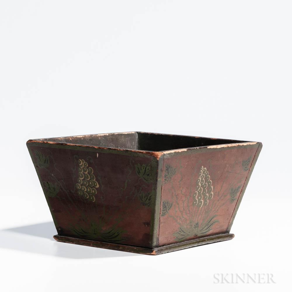 Paint-decorated Spit Box